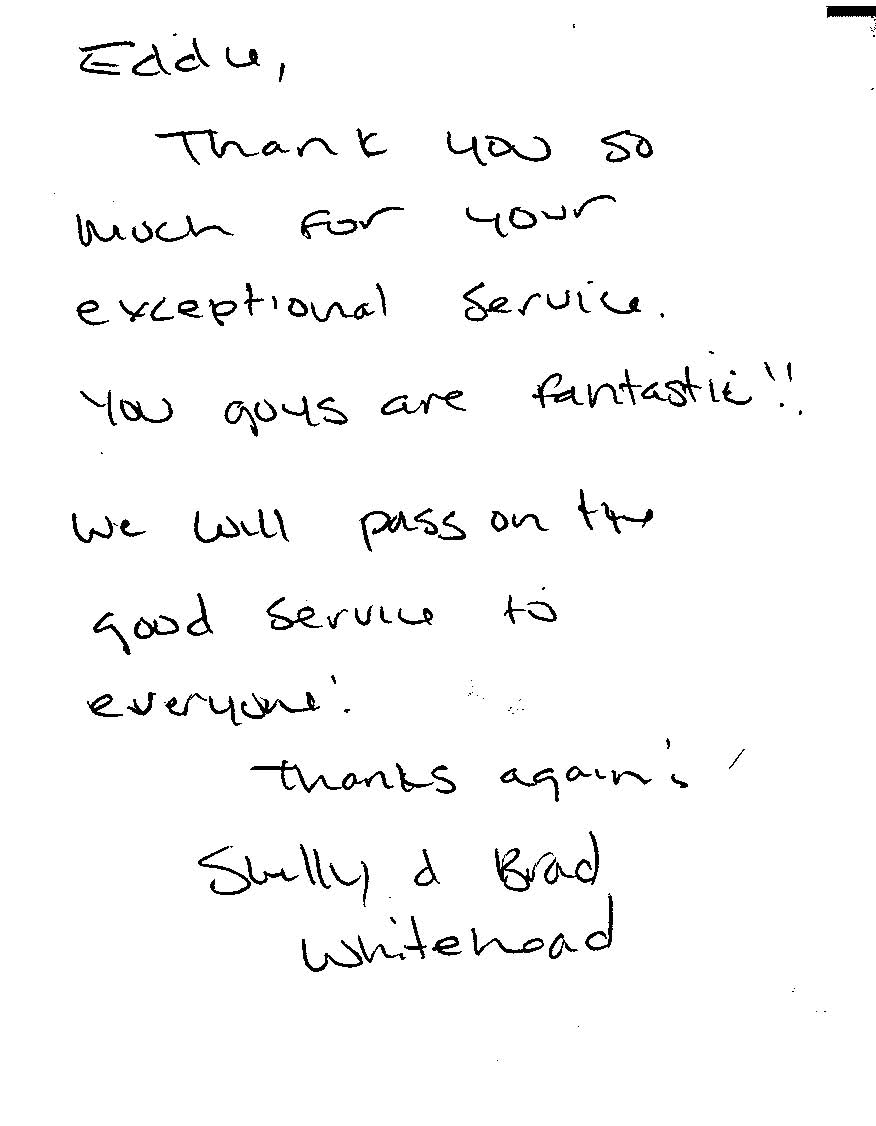 car care testimonial for a great Basalt auto body shop
