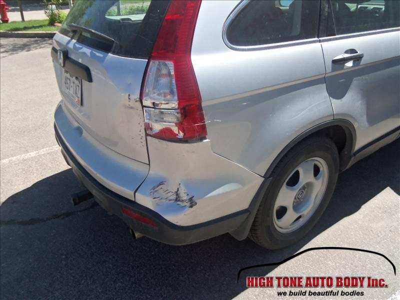 Honda cr v collision repair rear bumper tailgate rear for Honda car repair