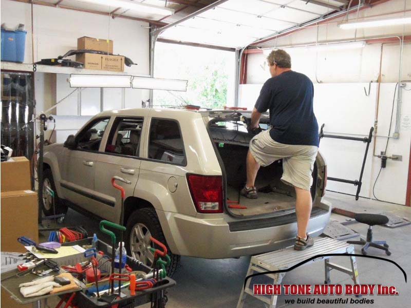 Removing dents from a new Grand Cherokee
