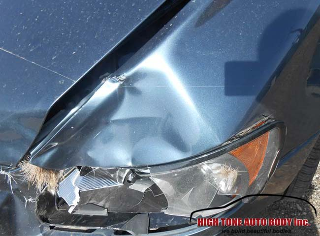 Aspen auto body repair Snowmass. Deer collision repair