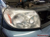 headlight polish services aspen toyota suv foggy headlight before polishing