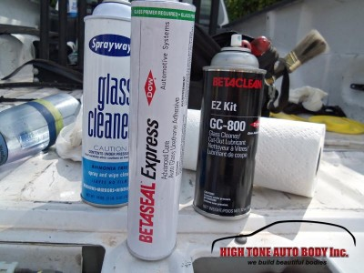 windshield replacement adhesives and cleaner solvents