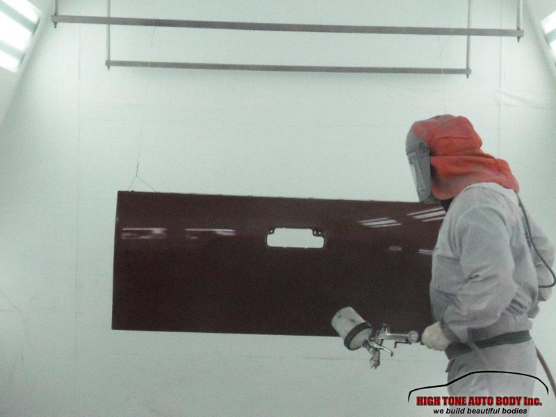 Collision repair Aspen, CO. tailgate painted and ready for installment