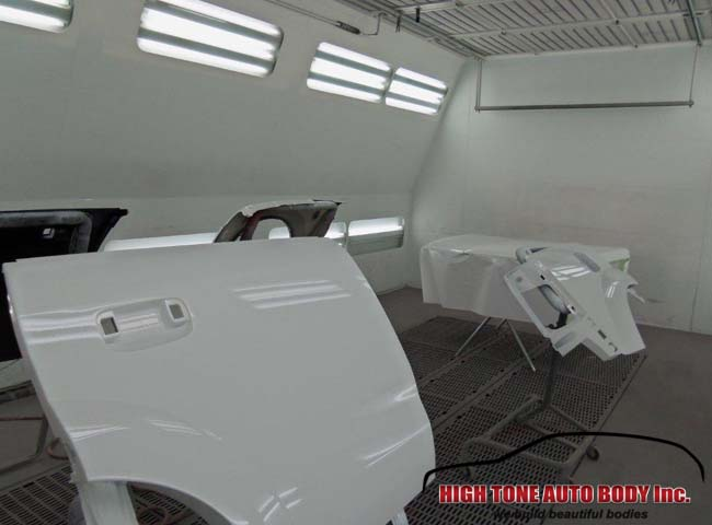Saturn Vue panels, painted clear-coated and ready for installment.